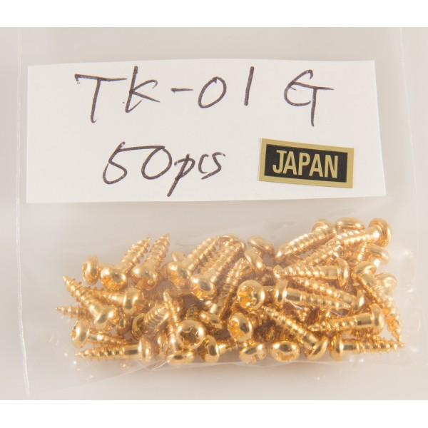Truss Rod Cover Screw TK-01 Gold